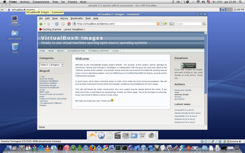 Zenwalk 5 2 with Gnome on Mac OS X host | VirtualBoxes